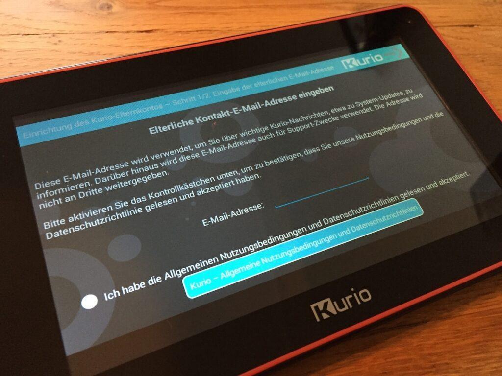 Datenschutz beim Kurio Tablet für Kinder