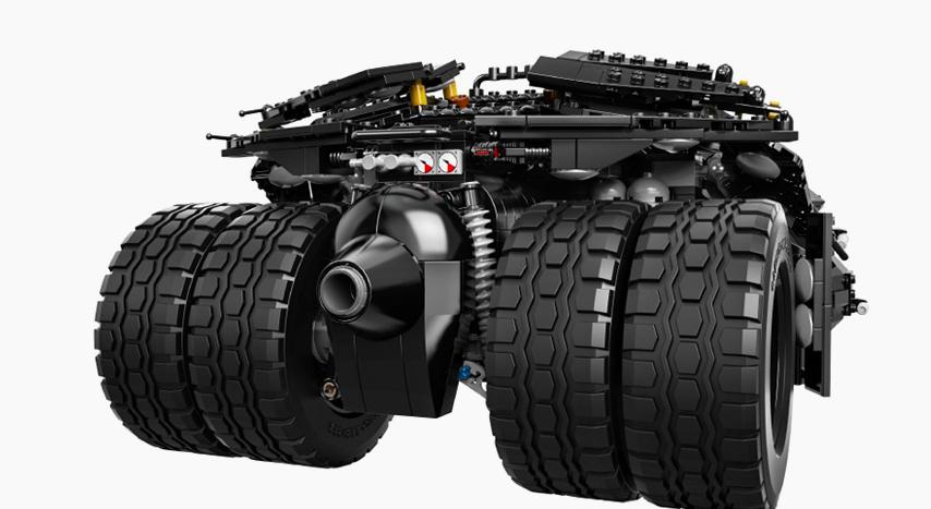 Lego Tumbler Batman back
