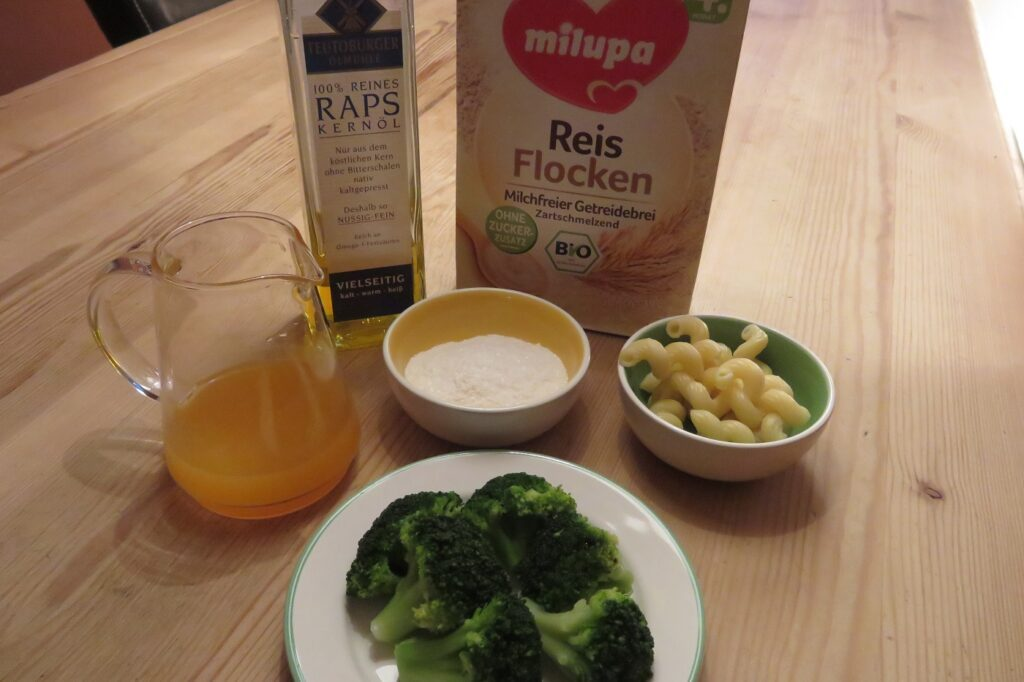 Milupa Nudel-Getreide-Brei mit Brokkoli