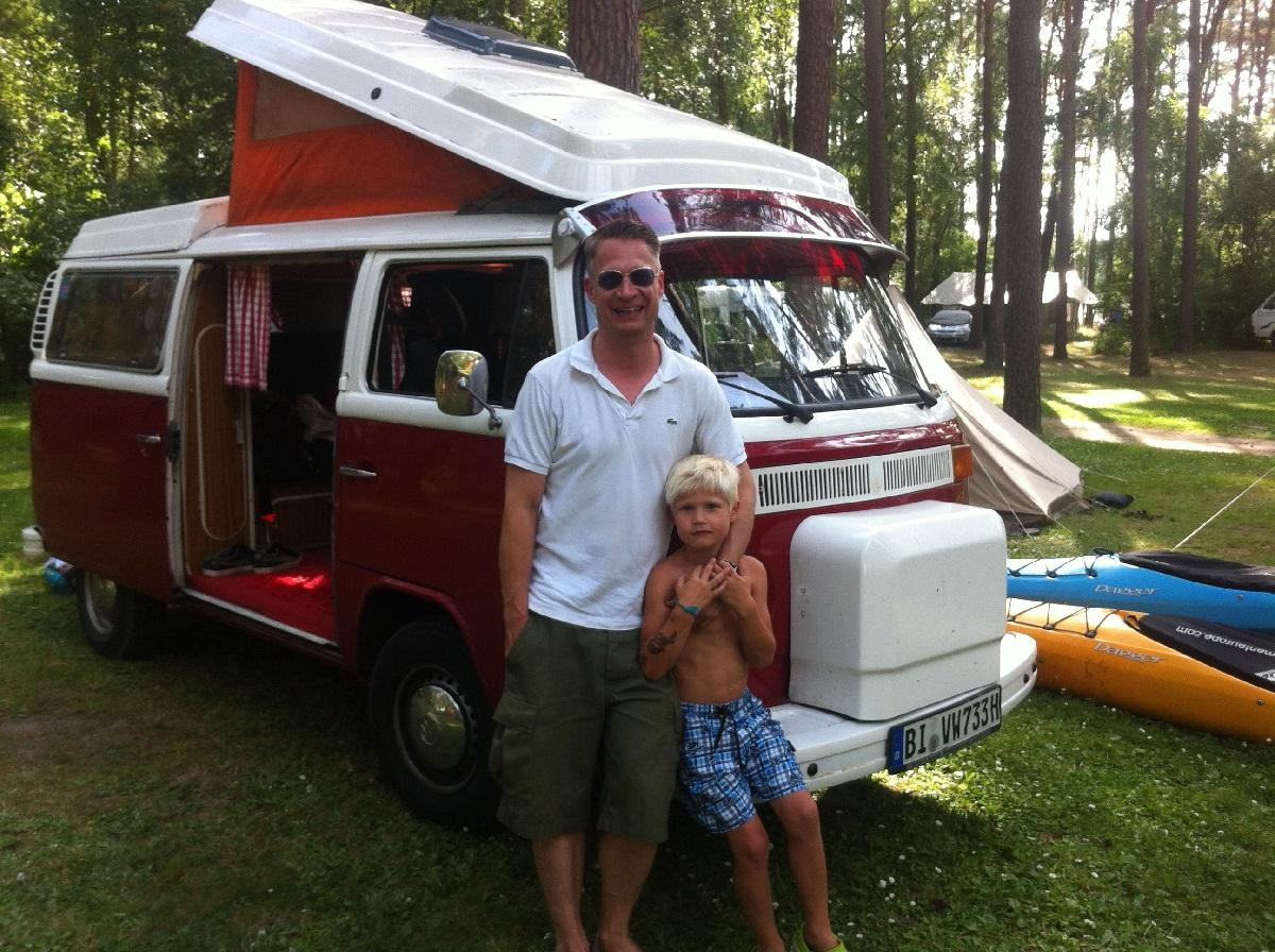 Ole mit seinem Sohn Julius