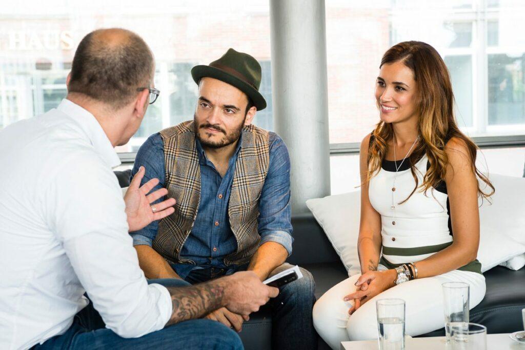 Kai Bösel im Gespräch mit Giovanni Zarrella und Jana Ina