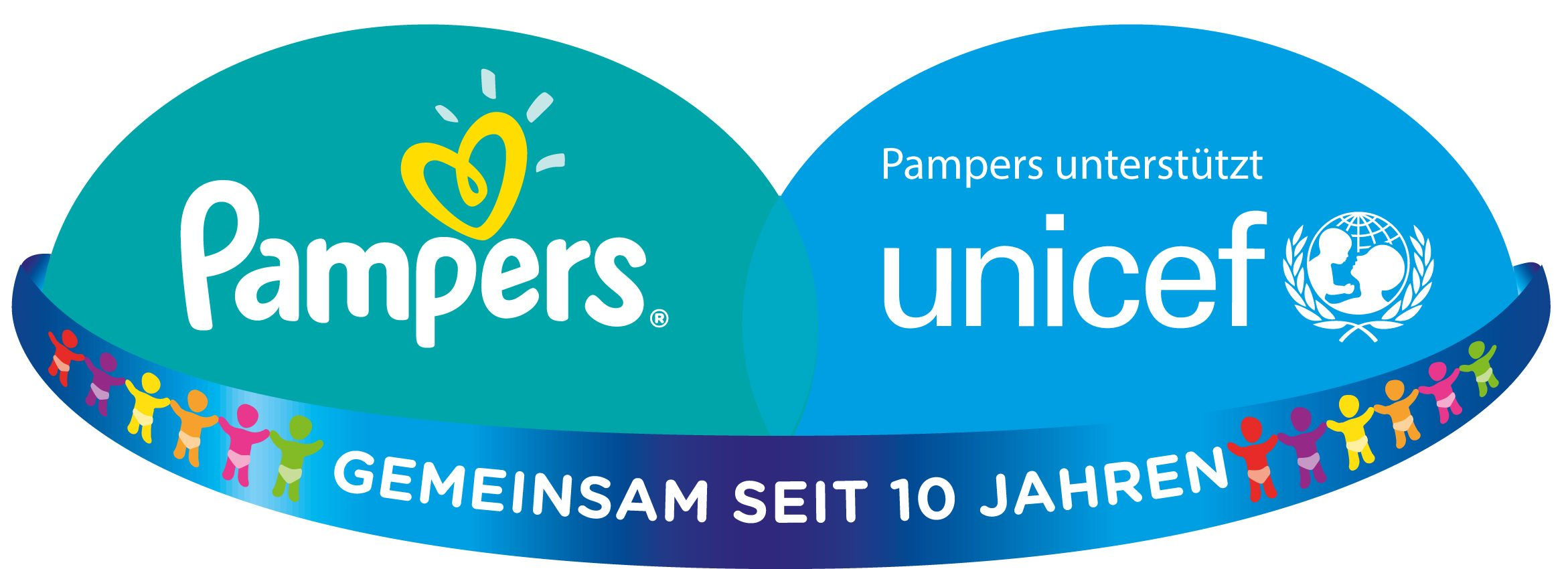 Pampers UNICEF Aktionslogo Low Res