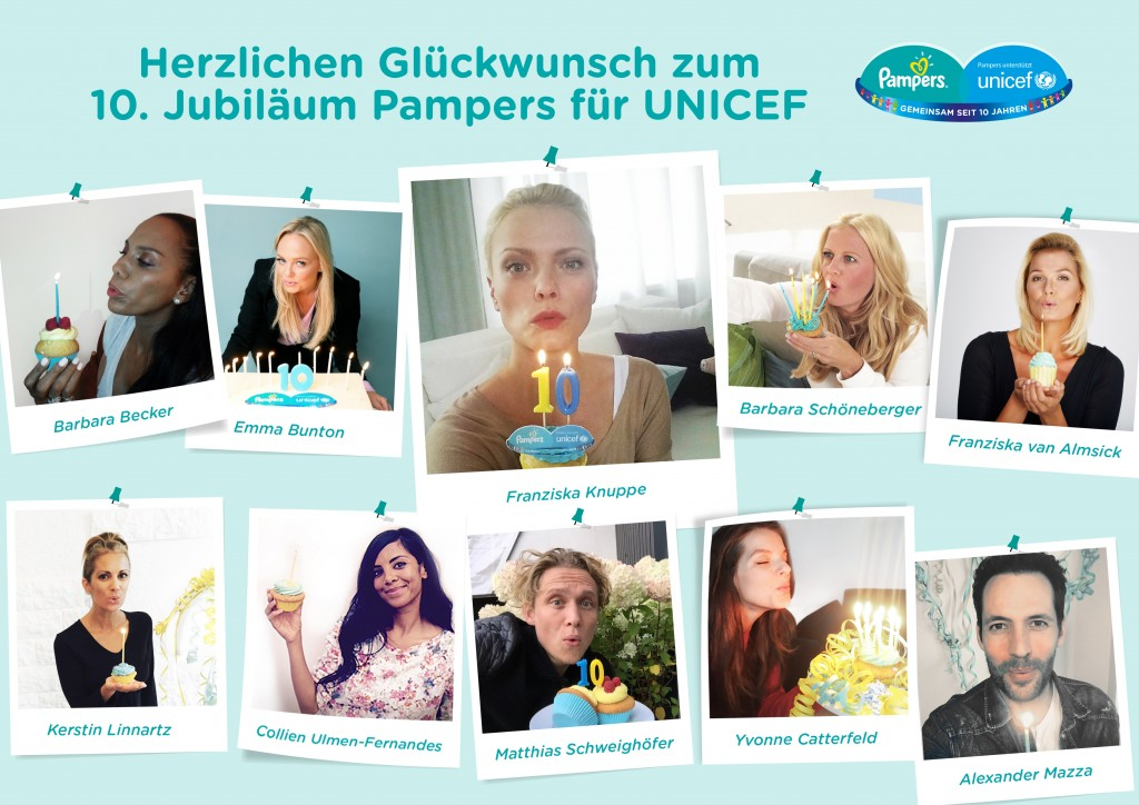Pampers für UNICEF 2015: Aktionsbotschafterin Franziska Knuppe