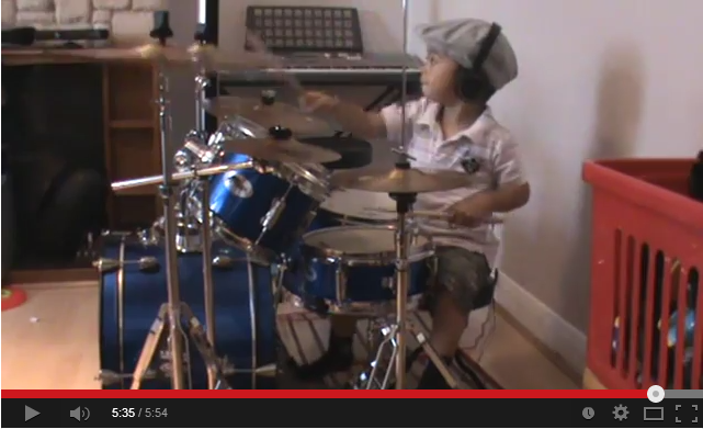 Sweet Child O Mine drum cover 3 Year Old Drummer YouTube