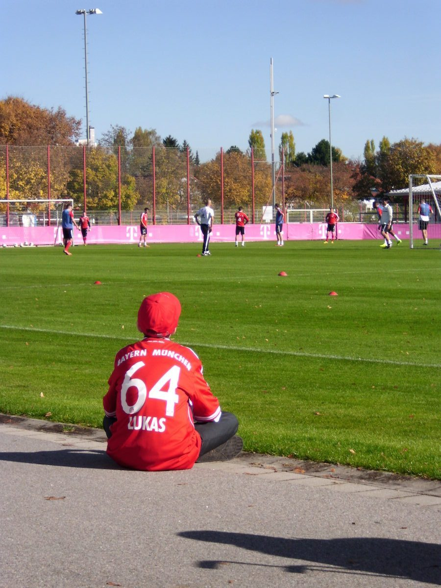 Lebenskrieger Training FC Bayern München Thomas Müller