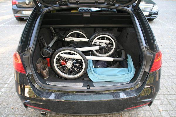 Bugaboo Runner im Kofferraum