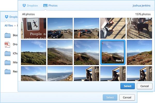 Dropbox Fotoalbum