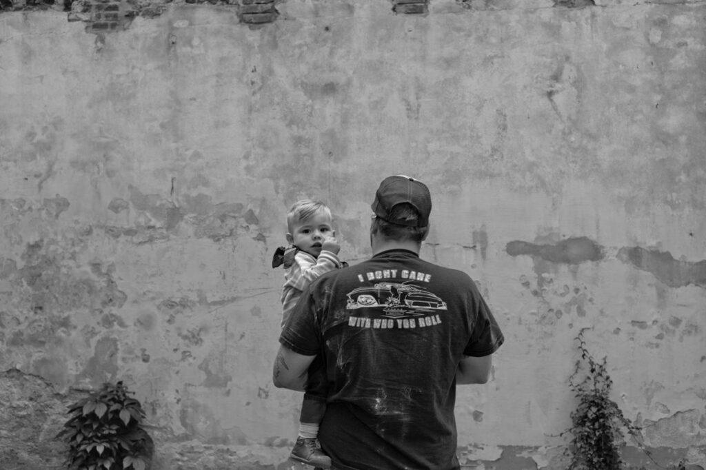Oliver Kaps mit seinem Sohn