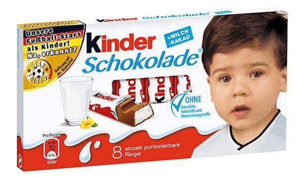 kinder Schokolade Sami Khedira
